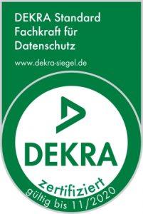 Dekra Logo Fachkraft für Datenschutz. Insole24